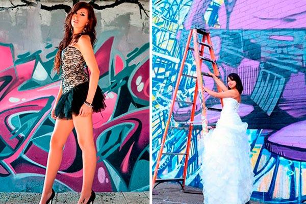 Arte urbano en tus 15 años. Una temática muy cool y colorida