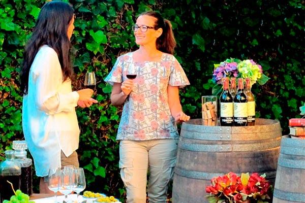 Catas de vino al aire libre Una velada entre vinos y quesos