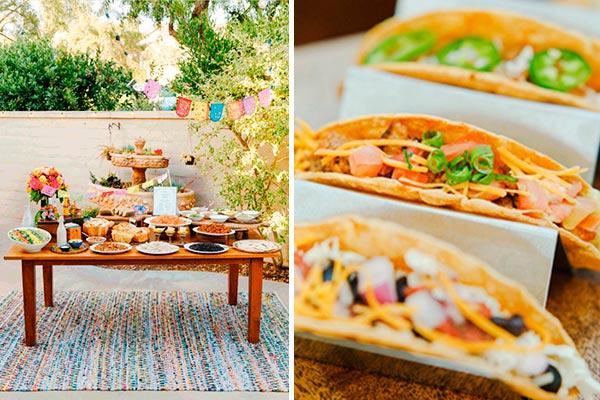 Celebración al aire libre Organiza una deleitable fiesta de tacos