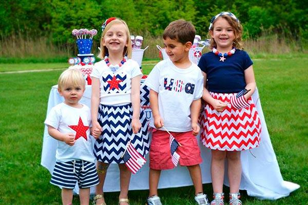 ¿cómo celebrar un 4 de julio para niños? Un 4 de julio a rayas y estrellas