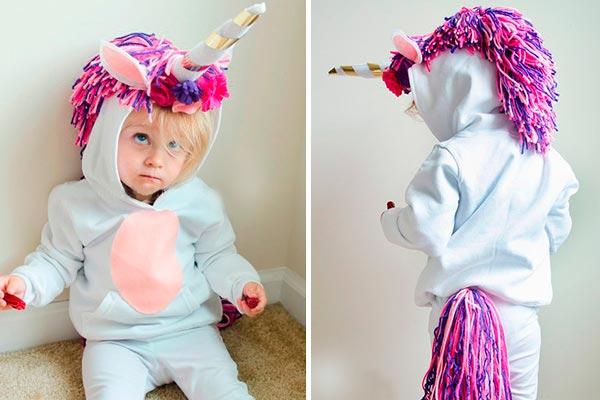 ¿cómo realizar un disfraz de unicornio? ¡hazlo tú misma! tierno disfraz de unicornio para tu hija