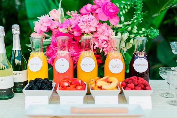 ¿cómo realizar un mimosa bar? Ideas sencillas para una barra de mimosas