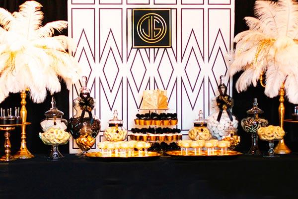 """Cumpleaños al estilo años 20's - Distinguida celebración inspirada en """"el gran gatsby"""""""