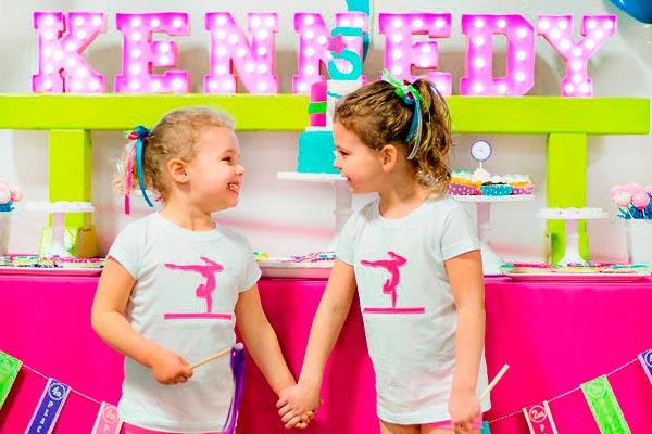 Cumpleaños de gimnasia para niñas ¡danza y color! divertida fiesta para gimnastas