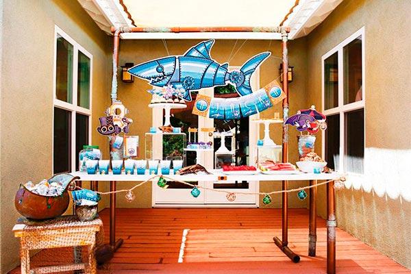 Cumpleaños para niños Increíble celebración subacuática