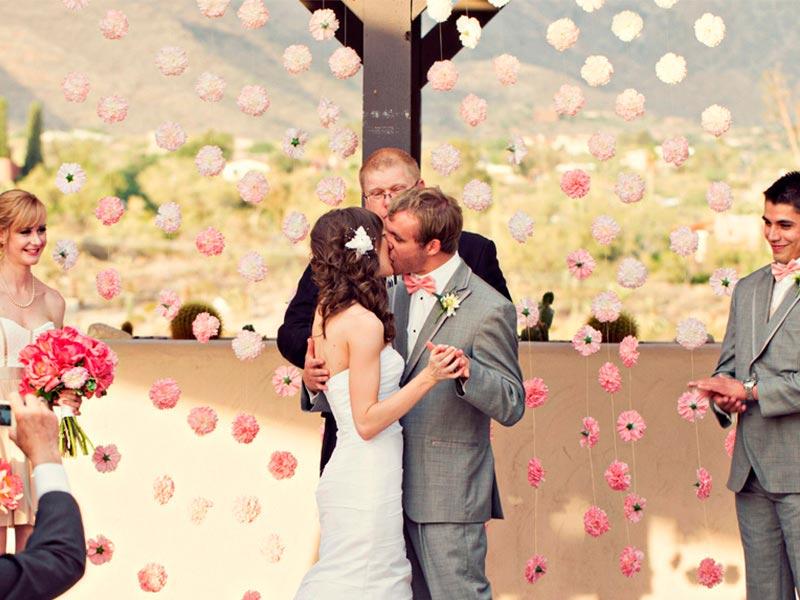 Decoración con claveles para bodas Un romántico enlace entre claveles