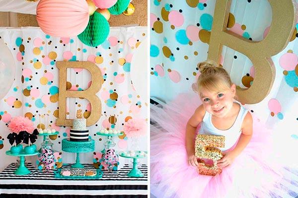 Decoración con confeti para cumpleaños de niña Lluvia de confeti en el cumpleaños de tu princesa