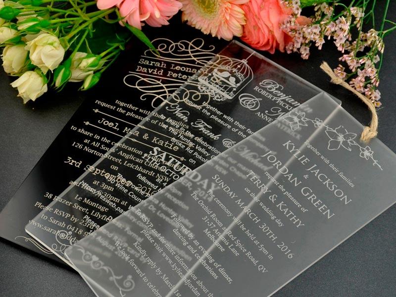 Elegantes invitaciones de bodas Ostentosos grabados para anunciar tu enlace nupcial