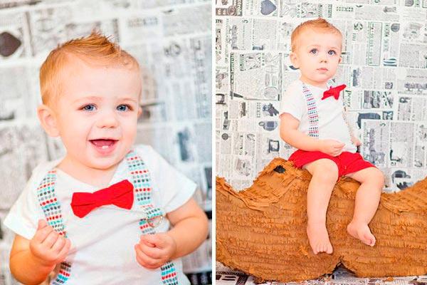 Fiesta colorida y elegante para niños Primer cumpleaños de tu pequeño caballero