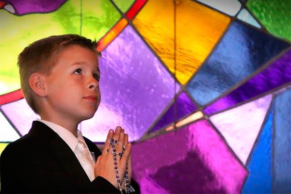 Primera comunión celeste Azul celestial para la primera comunión