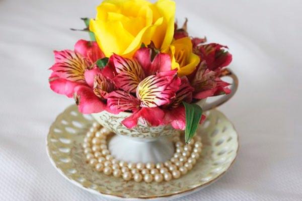 Sencillos Arreglos Florales Con Tazas Colma Tus Tazas De