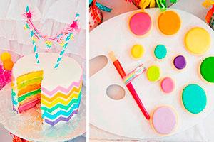 Cumpleaños artístico para niñas - Una fiesta creativa con mucho color