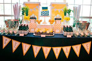 Decoración sencilla y colorida para graduación - Una fiesta de graduación muy fresca y juvenil