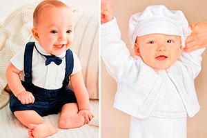 Tipos de vestuario para bautizo de niños - Adorables oufits para el bautizo de tu hijo