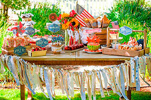 4 de julio al estilo vintage - Decoración vintage para un 4 de julio memorable