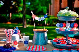 ¿cómo organizar una fiesta de 4 julio? - Un picnic de 4 de julio muy patriótico