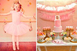 Cumpleaños de ballet para niña - Encantadora fiesta de ballet rosa  para niñas