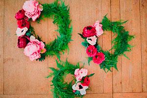 Finas coronas de flores - Delicadas coronas con arreglos florales
