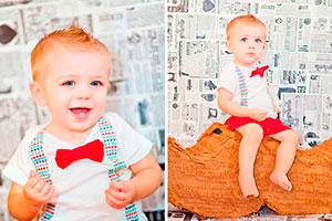 Fiesta colorida y elegante para niños - Primer cumpleaños de tu pequeño caballero