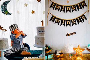 Fiesta con temática de estrellas para niños - Cumpleaños twinkle, little star para tu hijo