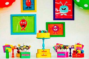 Cumpleaños con temática de monstruos - Amigables monstruos en el cumple de tu chiquillo