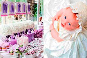 ¿cómo hacer un bautizo tierno para niñas? - Deslumbrante bautizo en tonos púrpura  para tu hija