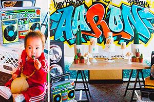Cumpleaños al estilo de rap para niño - Original fiesta de rap para tu travieso hijo