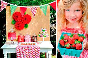 Fresitas para cumpleaños de niñas - Celebra su cumpleaños al estilo de un campo de fresas