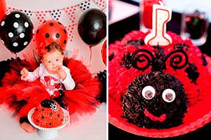 Primer cumpleaños para tu niña - Llena su primer cumpleaños de coquetas mariquitas