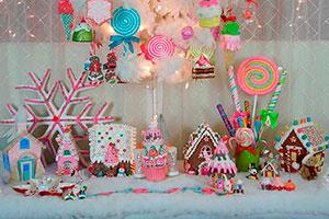 Decoración navideña con dulces - Celebra una mágica navidad en candyland