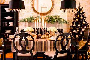Cena navideña con tonos refinados - Organiza una cena de navidad llena de glamour