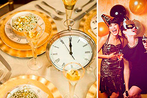 Blanco y oro para despedir el año - Glamorosa decoración para recibir el año nuevo