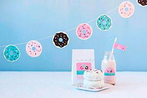 ¿Cómo hacer cadenetas de donuts? - Espectaculares donuts de papel para decorar