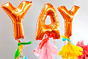 Mini globos de bricolaje - Atractivos toppers con globos brillantes