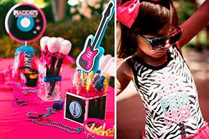 Cumpleaños rockero para niña - Glamorosa fiesta rockera para tu pequeña diva