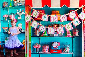 Colores y caramelos en su fiesta - Un cumpleaños muy dulce