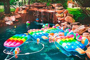 Decoración con paletas heladas para fiesta de niña - Celebra un colorido y refrescante cumpleaños
