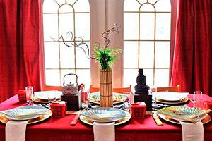 Decoración asiática para fiestas - Elegante fiesta al estilo asiático