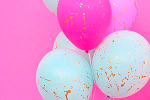 Cómo decorar globos fácil y rápido - Fabulosos globos con gotas doradas