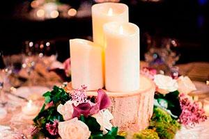 Centros de mesas con cerillos - Fantásticos centros de mesas con velas