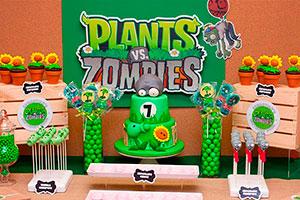 Cumpleaños para niño de plantas contra zombis - Plants vs zombies se apoderan del cumpleaños de tu hijo