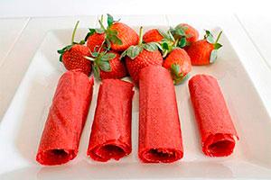 Aprende a hacer enrollados de fresas - Saludables enrollados de fresas