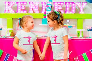 Cumpleaños de gimnasia para niñas - ¡danza y color! divertida fiesta para gimnastas