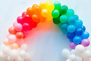 ¿cómo hacer un arco de globos? - Arco iris de globos para decorar tu fiesta