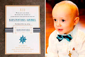 Elegante bautizo para niño - Distinción naval en el bautizo de tu hijo