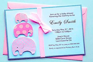 Ideas para invitaciones de baby shower de niña - Ocurrentes tarjetas para el baby shower de tu hija