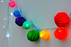 Guirnaldas de origami - Coloridas guirnaldas de papel