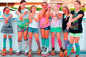 Fiesta de patinaje para niñas - ¡patinemos en tu cumpleaños!