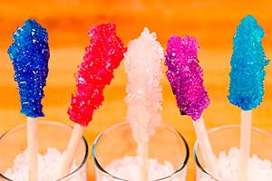 ¿cómo hacer paletas de caramelo? - Coloridas rocas de caramelo para tu fiesta