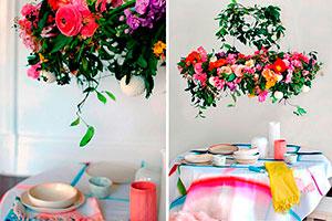 Arreglo floral para tu fiesta - Elegante candelabro floral para tu celebración